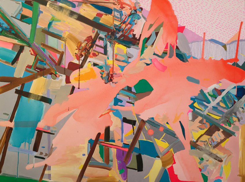 'Everything Shifts' is one of several paintings by Turkish artist Yasemin Kaçkar Demirel that is included in the exhibition 'Summer in the City,' on display at Elisa Contemporary Art through Aug. 7.