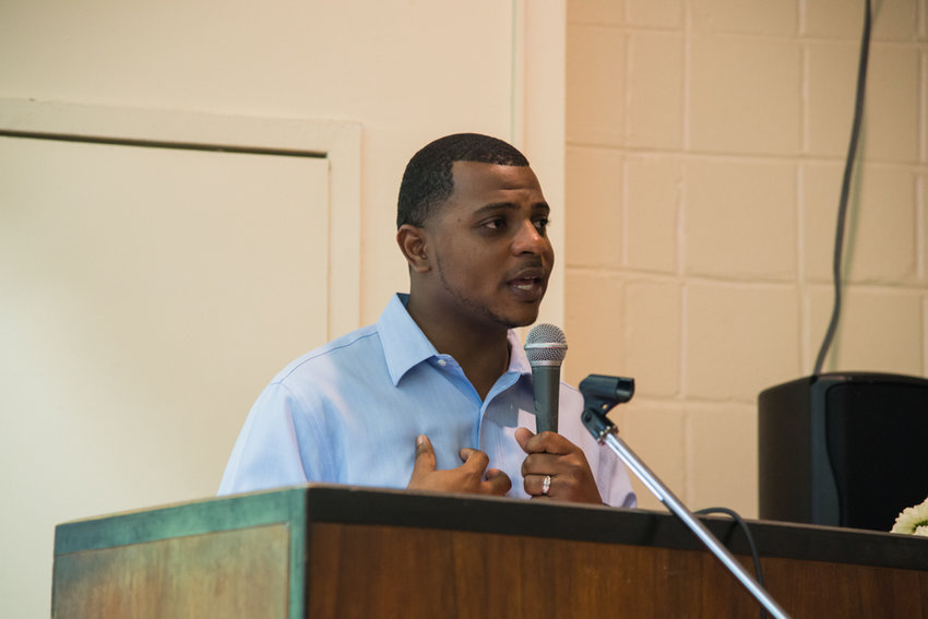 Franck Joseph II, assistant commissioner for community relations at the city's human rights commission, talks about civil rights law at the federal level and the state of human rights in the city at the Riverdale-Yonkers Society for Ethical Culture.