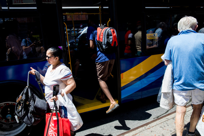 Bus fare evasion typically takes the shape of people entering through the back door. For the first three months of 2019, the MTA estimates that nearly a quarter of all riders evaded paying the bus fare, resulting in a loss of approximately $36 million.