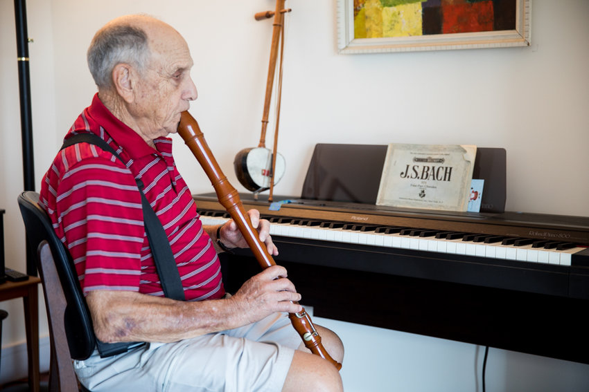 Music is Herb Gardner's life. A longtime orchestra teacher, Gardner wants to form a neighborhood musical ensemble here in Riverdale.