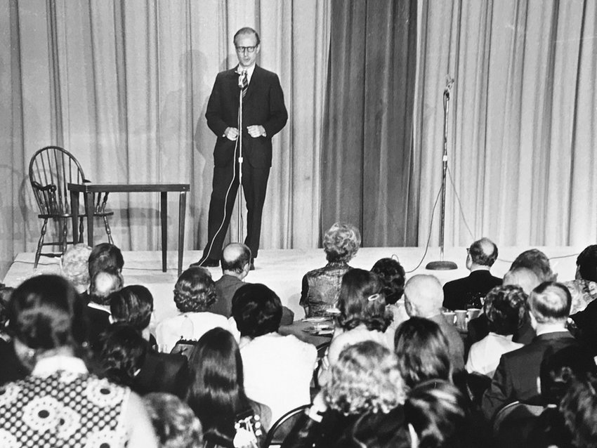 Robert Morgenthau speaks at an event in an undated photograph, believed to be from the late 1960s. A longtime Riverdalian, Morgenthau served as the U.S. Attorney for the Southern District of New York before spending a good chunk of his life as Manhattan's district attorney. He died Monday at 99.