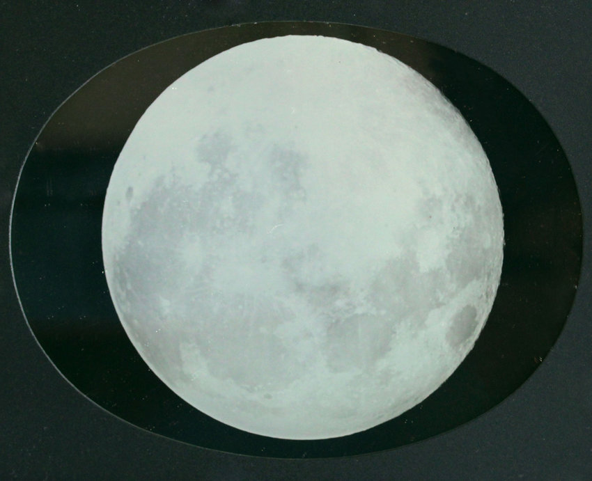 Robert Shlaer used the archaic daguerreotype method to take this image of the moon in 2002.