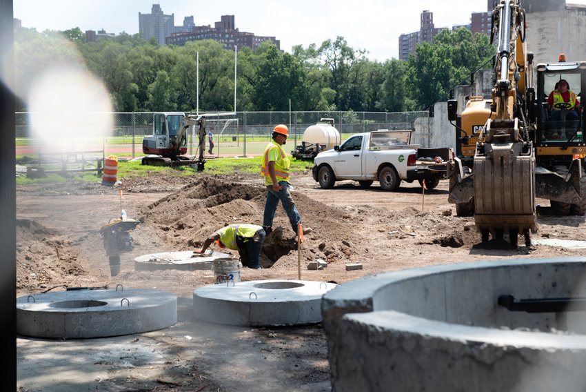 A hefty $5 million from Parks Without Borders is helping to fund ongoing construction at Van Cortlandt Park.