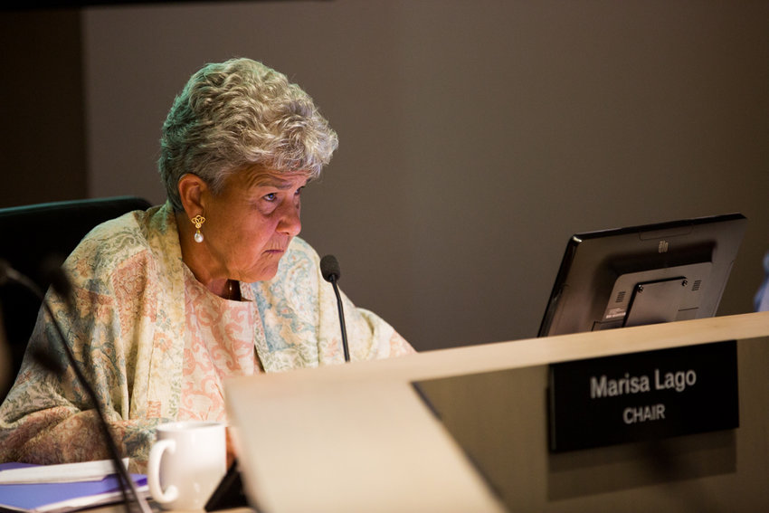 City planning commission chair Marisa Lago presides over a meeting on Aug. 14.