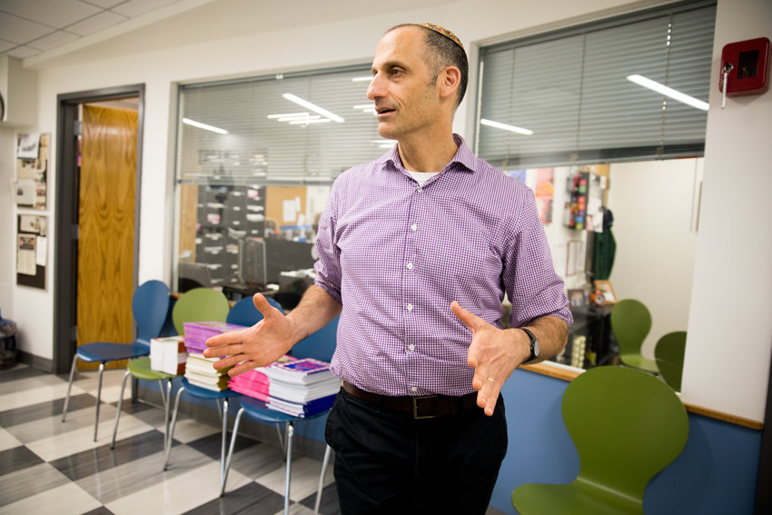 Rabbi Aaron Frank, head of school for Kinneret Day School, talks about his experiences since joining the school four years ago. Frank joined Kinneret after spending 12 years at a Jewish school in Baltimore.