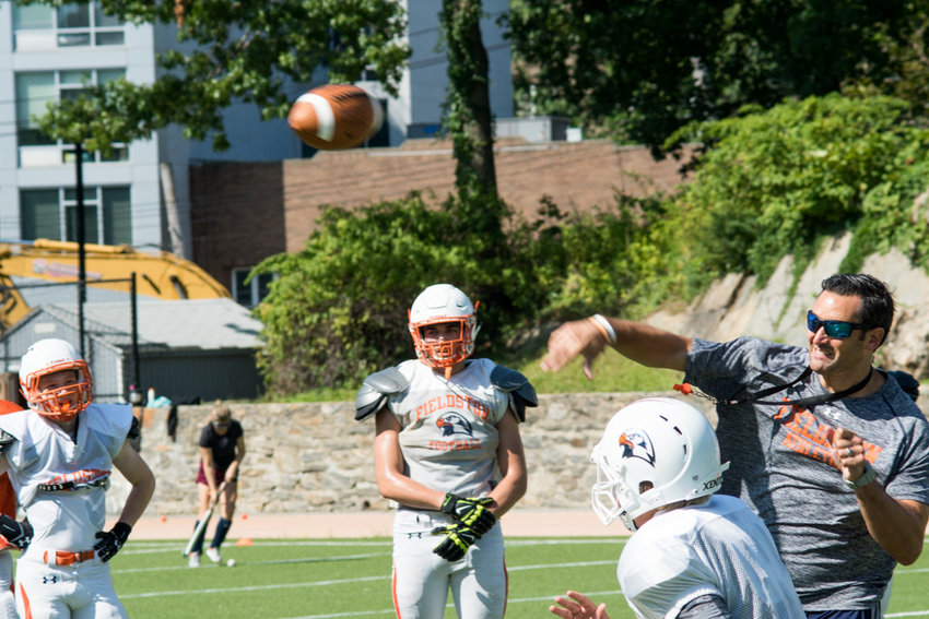 Fieldston football coach Gus Ornstein — a quarterback at Notre Dame and Michigan State in his college days — will look for a new starting quarterback for his Eagles this year after the departure of three-year starter Jesse Cooper-Leary.