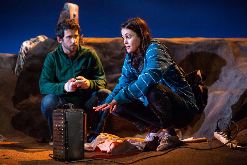 Darius Homayoun and Dina Shihabi bring to life Sylvia Khoury's 'Power Strip,' playing through Nov. 17 at Lincoln Center.