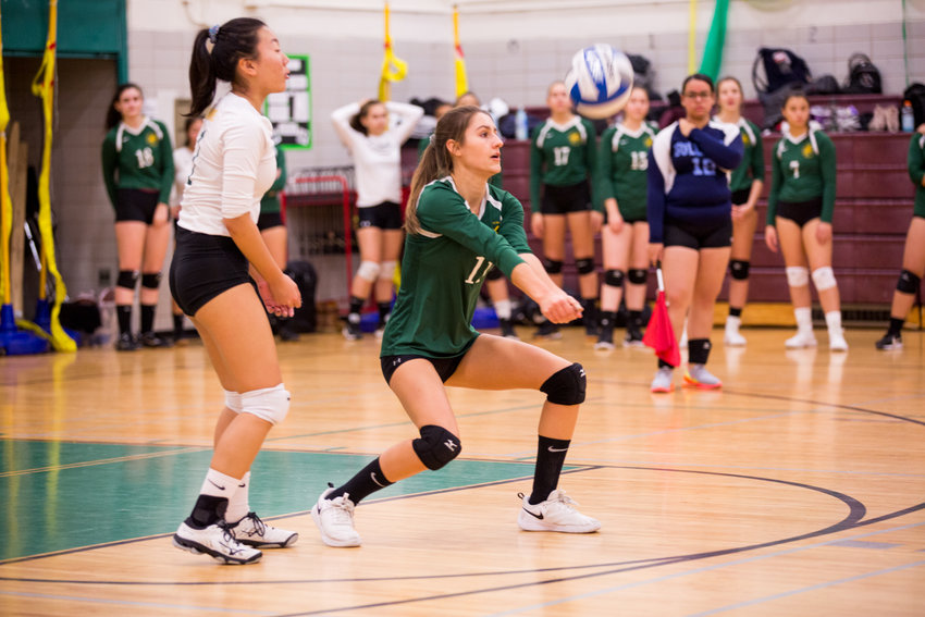 Senior co-captain Darya Lollos logged eight service points and five kills in Bronx Science's victory over Townsend Harris in a classic PSAL playoff quarterfinal battle last week.