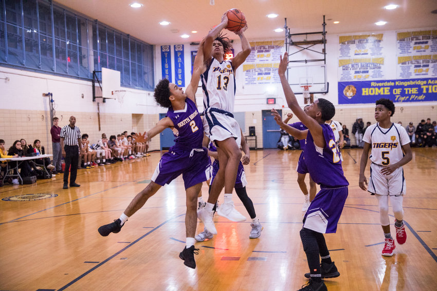 Riverdale/Kingsbridge Academy senior Kai Parris has been a handful for PSAL opponents this season as he averages 32.1 points and 10 rebounds a game for the Tigers.