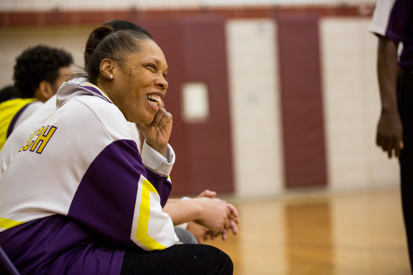Long days of teaching, study halls, basketball practice and games make for a very happy IN-Tech head basketball coach Nicole Price.