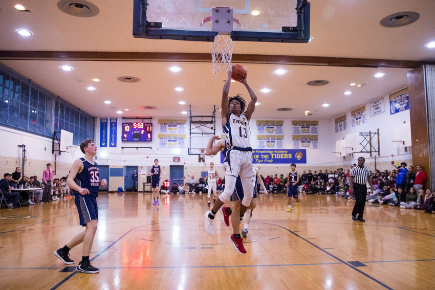 Riverdale/Kingsbridge Academy's Kai Parris led all scorers with 31 points in the Tigers' battle with IN-Tech. But it wasn't enough to stop the Panthers from posting a 57-56 victory.