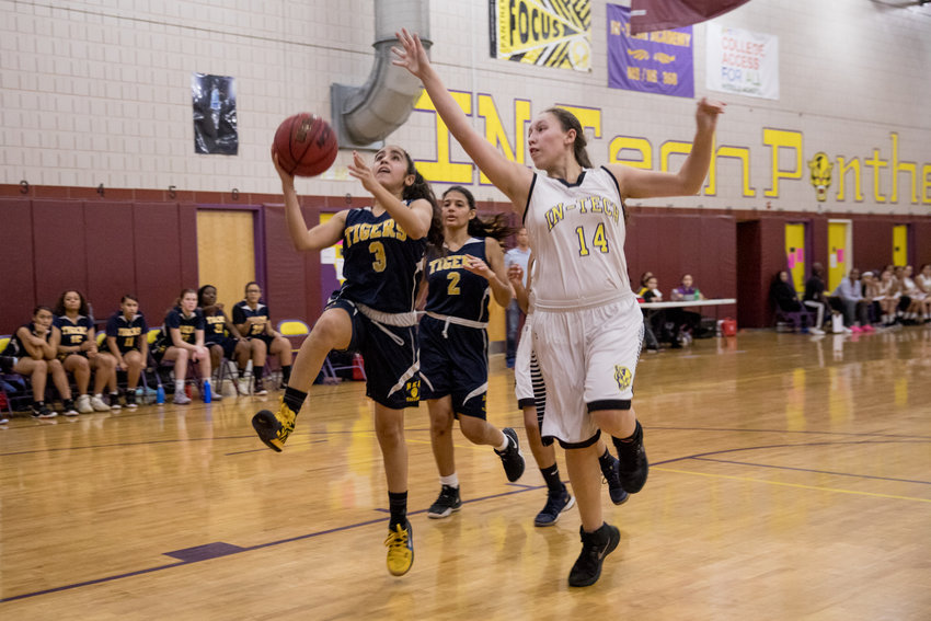 Riverdale/Kingsbridge Academy sophomore point guard Laura Lozano turned in a strong game in a win over IN-Tech, scoring six points and dishing out seven assists.