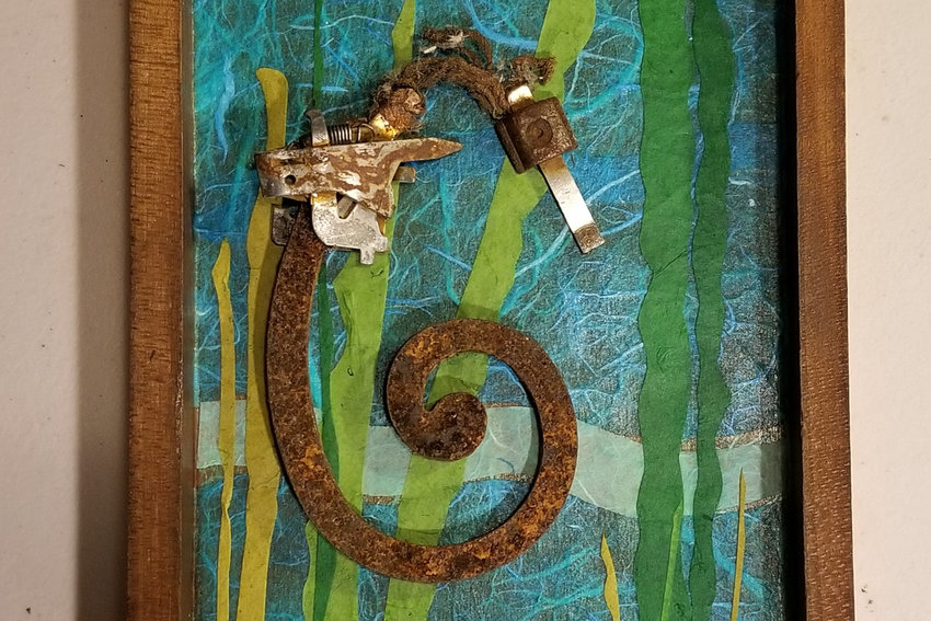 Suzanne Hockstein found the metal pieces for her sea horse artwork in the parking lot of a Home Depot. An exhibition of her work developed on her walks around the Bronx, 'Ten,' will be on display at An Beal Bocht Cafe throughout February.