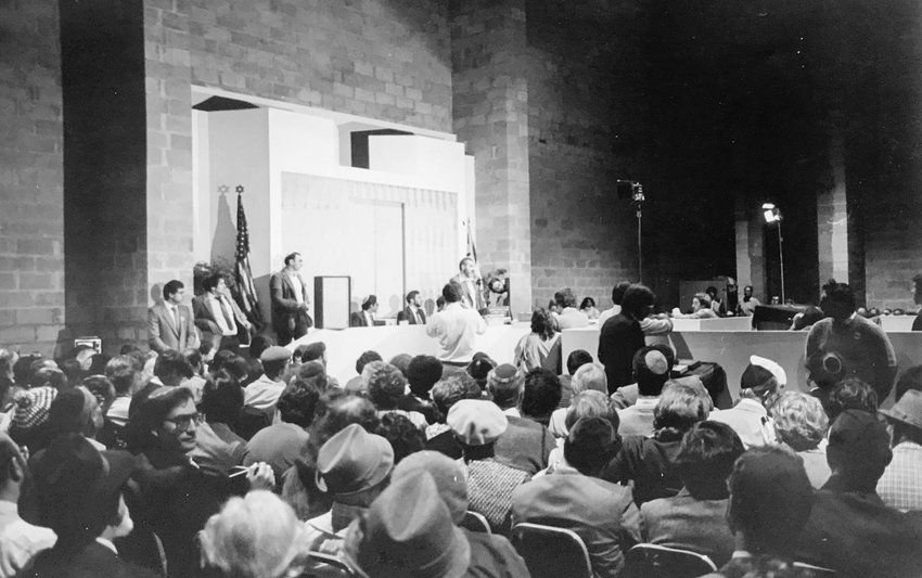 In 1984, more than 800 people filled the Hebrew Institute of Riverdale on Henry Hudson Parkway to hear a debate between firebrand Rabbi Meir Kahane and then-Harvard law professor Alan Dershowitz. Kahane believed Israel should exist only for Jews, while Dershowitz pushed for a union between Judaism and democracy in the country.