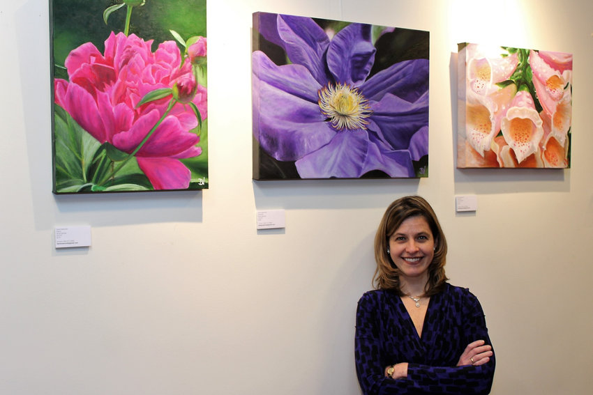 'Flourish,' a new exhibit of Daria Nawrocki's floral paintings, is on display at Buunni Coffee on Riverdale Avenue through March 31.