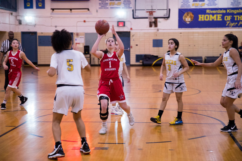 American Studies senior Jacqui Harari scored 12 points and pulled down six rebounds in the Senators' PSAL playoff-opening win over Career Health Academy.