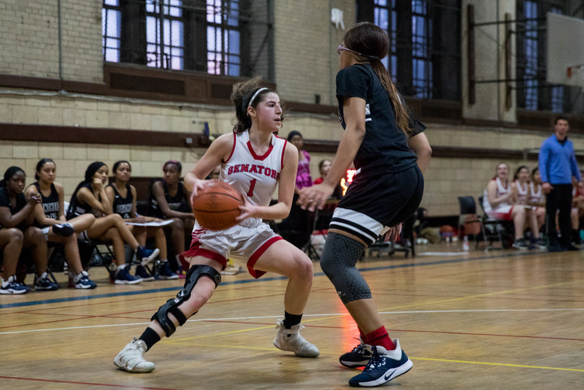 American Studies' senior guard Jacqui Harari scored 16 points in what turned out to be her final game for the Senators, a 67-55 playoff loss to Achievement First Brooklyn.