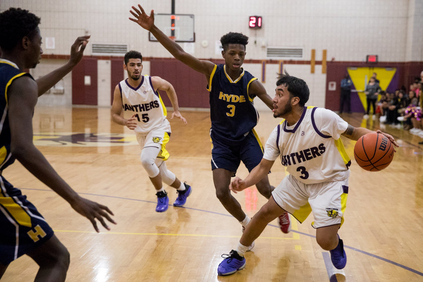 IN-Tech Academy senior guard Joel Jimenez scored 10 points in his final home game, a playoff win over Hyde. But his season — and career — came to an end with a second-round playoff loss at Scholars Academy.
