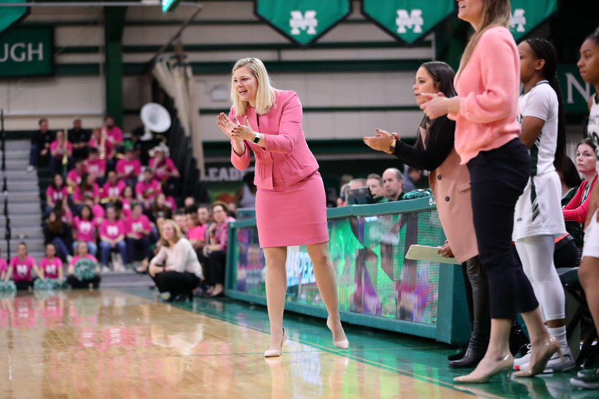 Manhattan head coach Heather Vulin never got to coach in the MAAC tournament last week as she had hoped to do after the coronavirus pandemic shuttered the Atlantic City tourney prior to the Jaspers' first scheduled game.