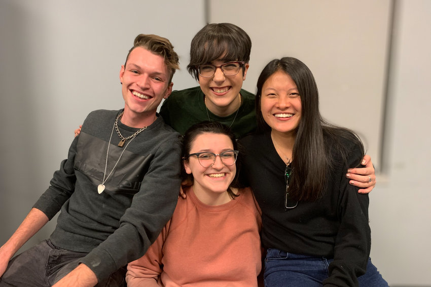 Rose Brennan, center top, worked as the arts and entertainment editor for Manhattan College's student newspaper, The Quadrangle, which she was a part of all four years at the school. She worked alongside the likes of Garrett Keidel, Gabriella DePinho, center bottom, and Alexa Schmidt.