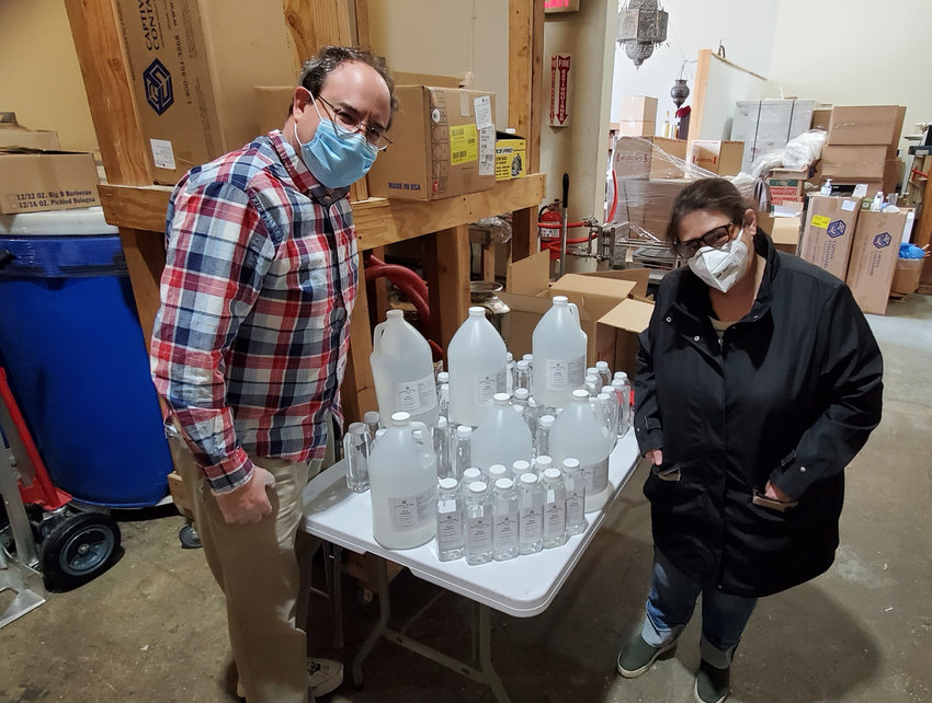 The team at Nahmias et Fils Distillery in Yonkers decided to meet the challenge the coronavirus pandemic posed by ramping up production of hand sanitizer, which has been particularly difficult to find on store shelves. David and Dorit Nahmias, who live in North Riverdale, own the distillery.