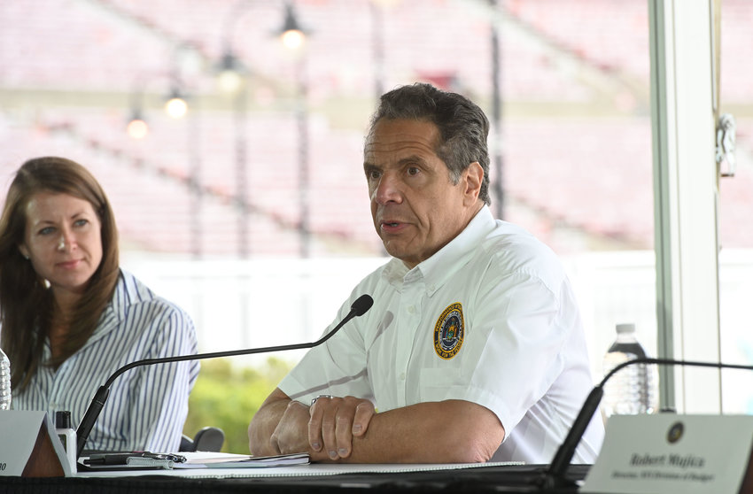 Gov. Andrew Cuomo is ready for sports to return, but it will have to be without fans in the seats. At least for now.