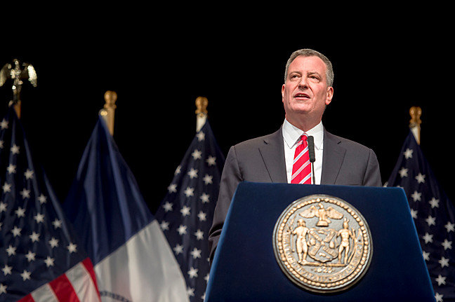 Mayor Bill de Blasio says reopening New York City is going to take a lot of hard work to keep numbers down compared to the rest of the state, especially since reopening means welcoming in tens of thousands of people from outside the city back in.