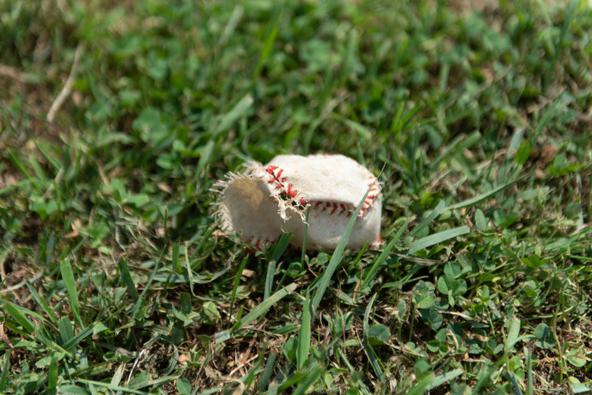 A torn baseball lies on the ground at the Van Cortlandt Park ballfield last year, which once was the home for Manhattan College's team. The school wants to rename the field in honor of Joseph Coppo, a 1975 alum of the school who died on Sept. 11, 2001.
