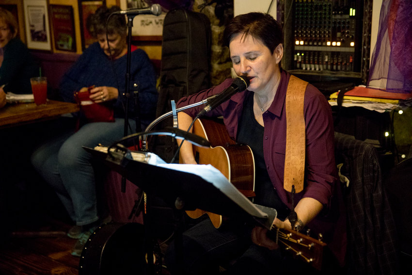 Irish musician and longtime performer at An Beal Bocht Cafe Mary Courtney has adapted to the shelter-in-place order implemented for New York State by taking her songs to Facebook live, where patrons who've come to know Courtney's work can interact with her in a more direct manner.