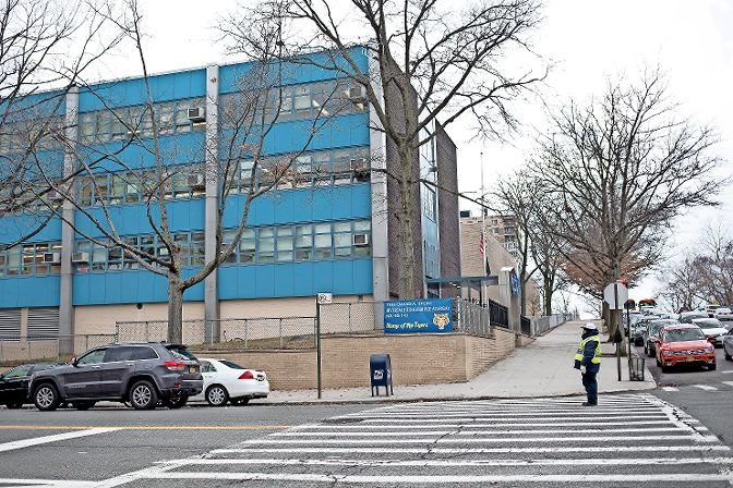 As schools look to reopen in the fall, administrators are getting creative with finding additional space for in-person classrooms. The 'arcade' at Riverdale/Kingsbridge Academy on West 237th Street would be an ideal space, but it's currently under construction.