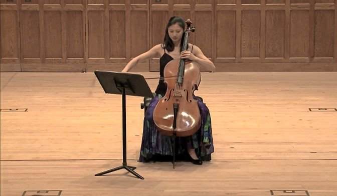Professional cellist Sophie Shao performs 'Intercourse of Fire and Water' by Tan Dun at Vassar College last February. It was for this piece as well as for her career as a performer Shao received a BRIO, or the Bronx Recognizes Its Own, award.