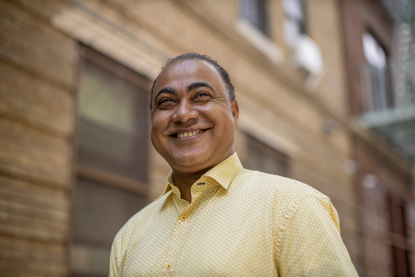 A former reporter and press secretary in the state attorney general's office, Fernando Aquino is one of five candidates running for the city council seat currently held by Fernando Cabrera.