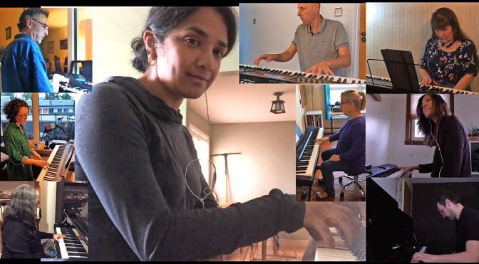 In July, 50 individual musicians from around the world got together in a virtual performance of 'World Piano Jam,' a piece written by professional musician Ron Drotos.