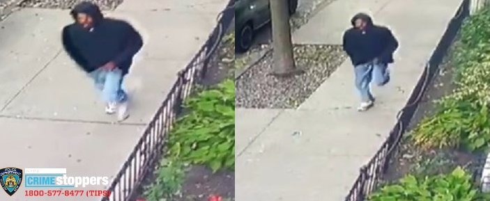 Using surveillance video from nearby homes, police believe the man they want to question in the stabbing is a dark-skinned adult male, approximately 5-foot-8, medium build, last seen wearing a black hooded sweater, light blue jeans and white sneakers.