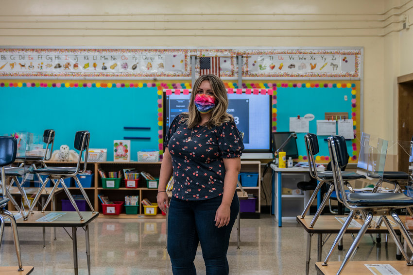 Kindergarten teacher Aleashia Castello's first year at P.S. 24 Spuyten Duyvil kicked off with a bang. Over the course of a week, public schools reopened across the city, only for some of them in hotspots to once again close only days later.