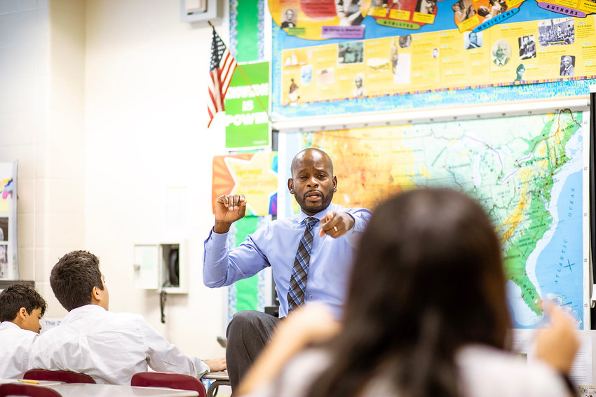 Michael Simmon teaches eighth grade U.S. history at IN-Tech Academy on Tibbett Avenue. And his classroom — the physical one and the virtual one — is becoming a space where students can discuss racial justice issues as well.