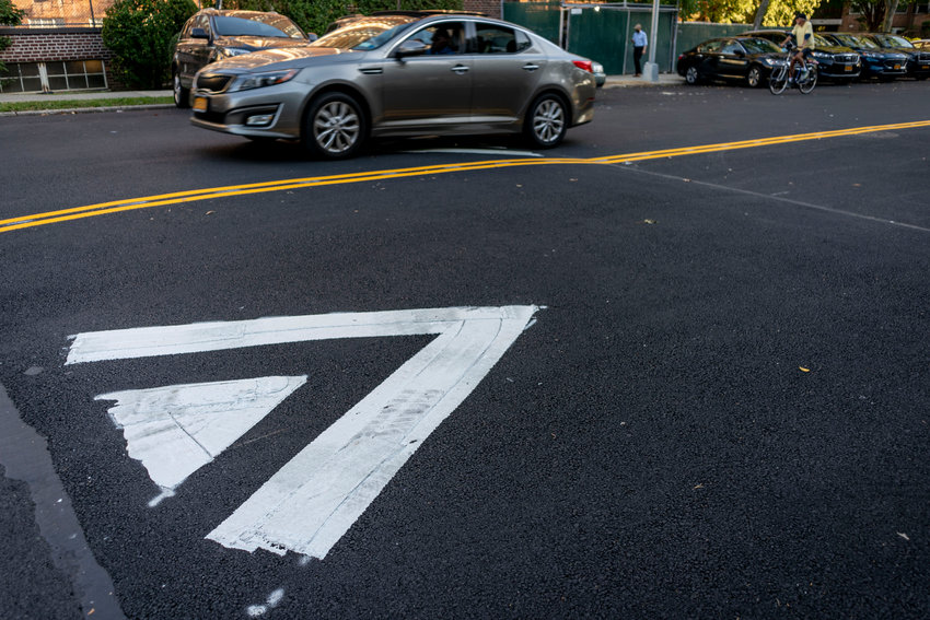 Speed bumps returned to Independence Avenue following Community Board 8's traffic and transportation committee meeting last month. In spite of their return, drag racing continues to be a problem in the neighborhood.