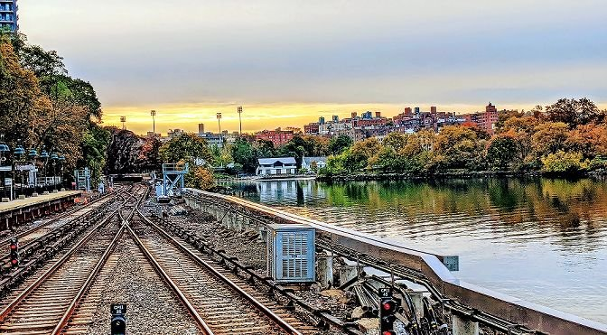 Local activist Stephanie Coggins is raising money for both the Kingsbridge Historical Society and The Riverdale Press by selling magnets with some of the pictures she's taken like this one of the Spuyten Duyvil Metro-North station.
