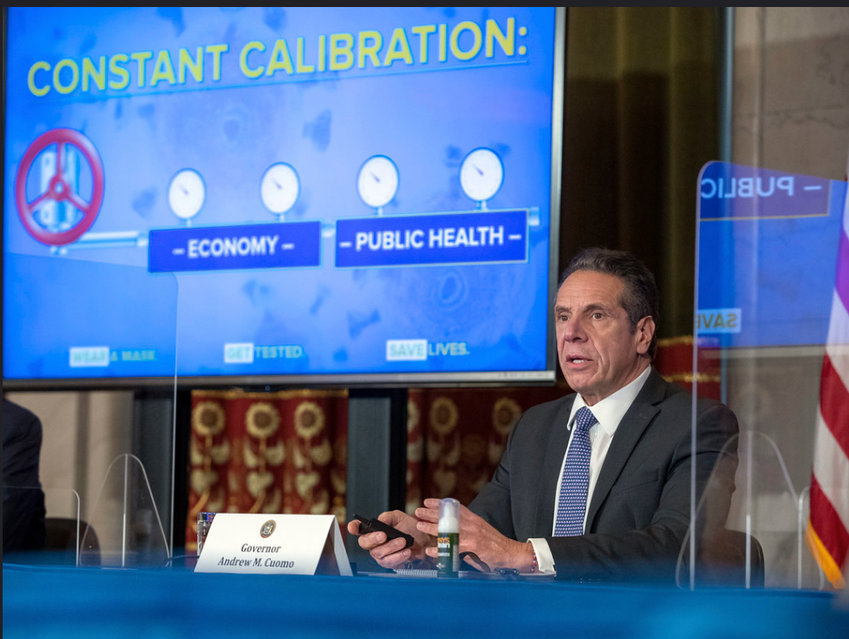 Gov. Andrew Cuomo has shut down indoor eating at New York City restaurants again, despite people being 70 times more likely to be exposed to the coronavirus at home than in a restaurant.