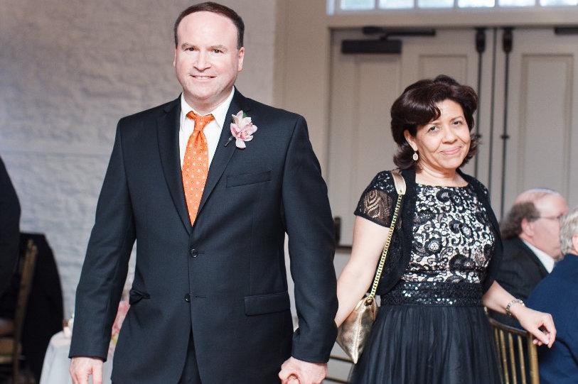 Elizabeth Landau, right, with husband Scott.
