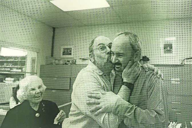 Within minutes of learning he won the Pulitzer Prize in 1998, Buddy Stein is embraced — and even kissed — by his brother, Richie Stein, with their mother Celia Stein beaming nearby. It was the proudest moment for this family, but one that almost never happened.