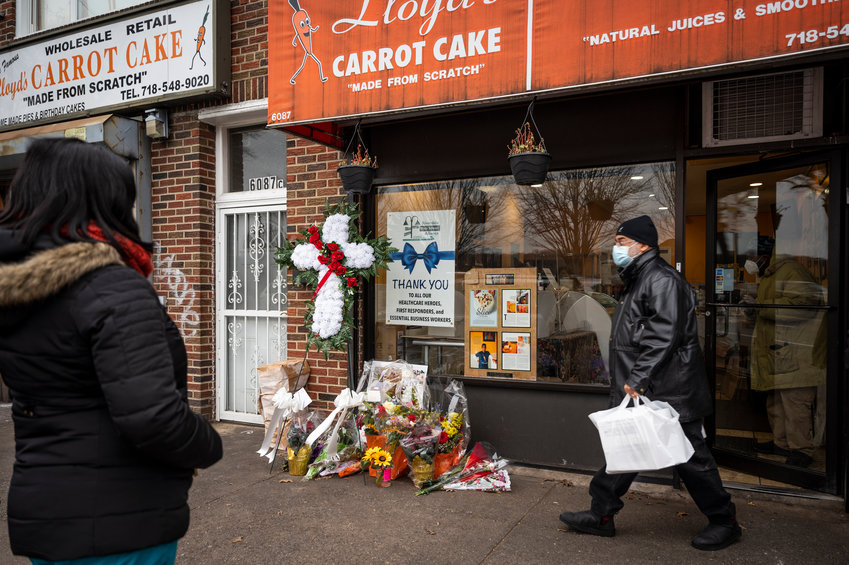 The community rallied around Lloyd's Carrot Cake in the days following the death of its co-founder, Betty Campbell-Adams. Elected officials joined community organizations like the Female Fight Club in a vigil outside the bakery the evening after her death was announced.