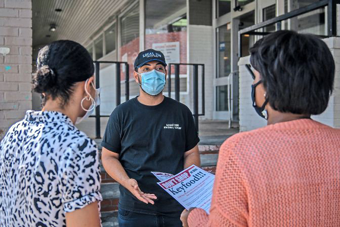 Life is back to normal at North Riverdale's Key Food grocery store after the location's new owners settled with a retail store union and the city over the dismissal of protected workers. Back in August, union representatives like Luca Negrino handed out flyers in front of the store protesting the firings.