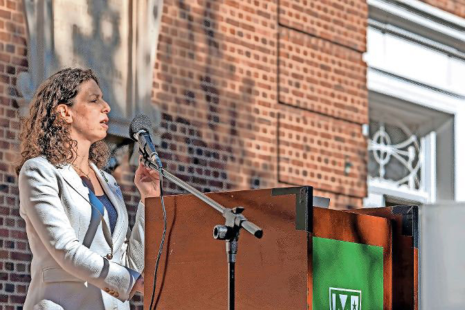 Jessica Haller already spent more than $96,000 in her efforts to succeed Andrew Cohen on the city council. However, less than 10 percent of those funds have stayed in the Bronx. Haller says she is trying to use local sources when possible, but just this past month, spent $18,000 elsewhere in the city for 'digital ads.'