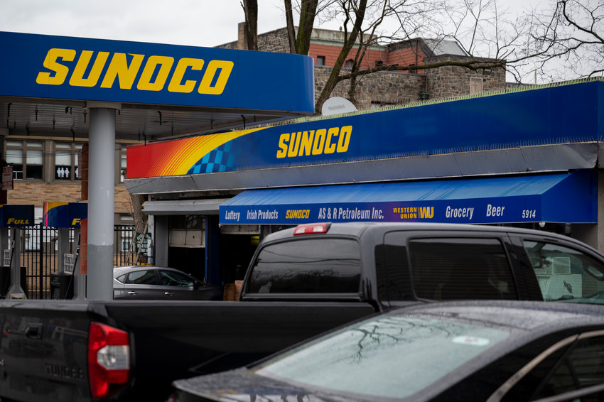 The exterior of Sunoco gas station along Riverdale Ave.