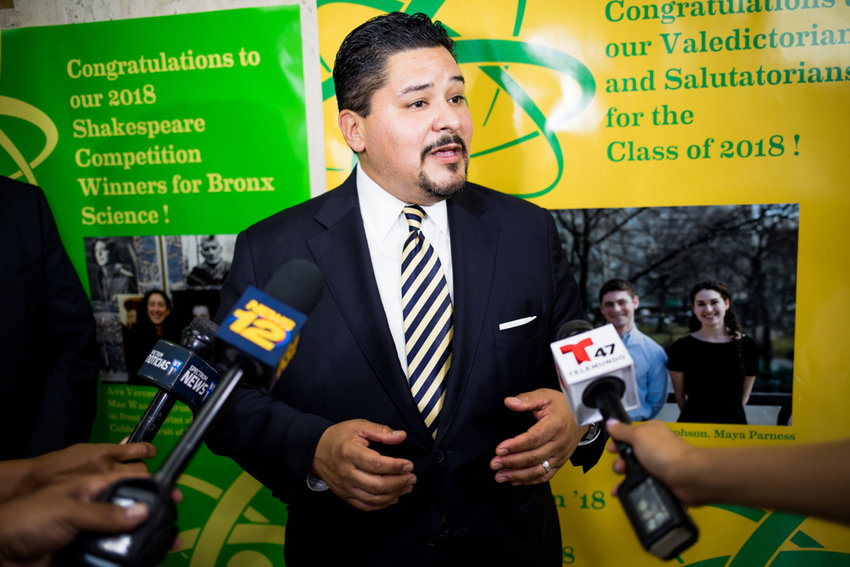 Schools chancellor Richard Carranza has had a tumultuous relationship with several of the teachers union caucuses. But his most tumultuous relationship was with Mayor Bill de Blasio, notably clashing over desegregation efforts in public schools, like the gifted and talented program.