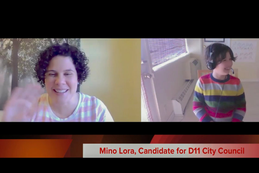 Theatre non-profit entrepreneur Mino Lora tells 'PolitiChat' host Benny Goldstein her top priority in office as a city councilwoman will be providing economic relief to families in her district. Lora is one of the four candidates Goldstein, 8, has interviewed for his online show so far.