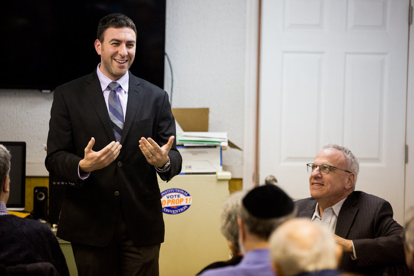 Eric Dinowitz is in the driver's seat to become the area's next city councilman, succeeding Andrew Cohen, through the end of the year.