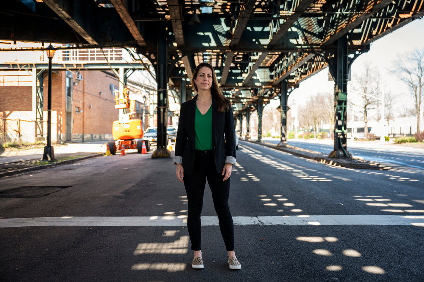 Abigail Martin has spent more money than any other candidate so far in the city council primary, but not much of it remains in the Bronx.