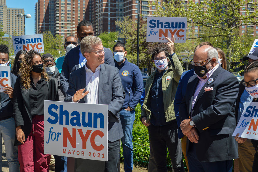 Former U.S. Department of Housing and Urban Development secretary Shaun Donovan says he started his career in housing work in this corner of the Bronx. He's one of eight candidates running for mayor in the June 22 Democratic primary.